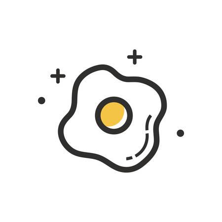 Een gebakken eiillustratie. Stock Illustratie
