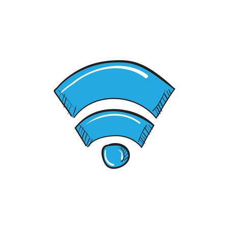 wireless signal icon Stock Illustratie