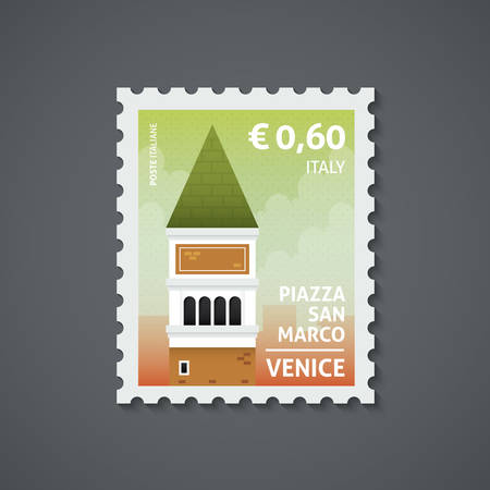 italy postage stamp Ilustrace