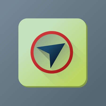 gps icon Stock Vector - 81533366