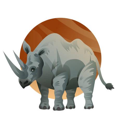 A rhinoceros illustration. Reklamní fotografie - 81533924