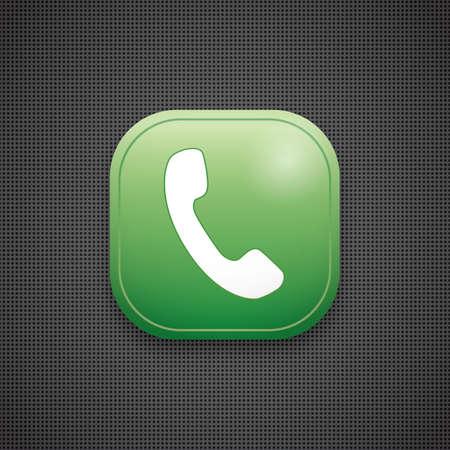 telefoongesprek pictogram Stock Illustratie