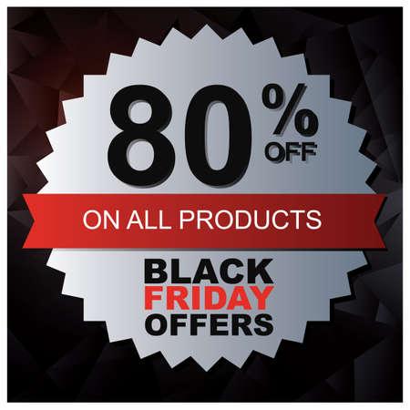 black friday sale wallpaper Ilustrace