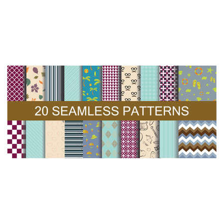 set of seamless patterns backgrounds Stock Vector - 81483678