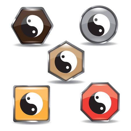 collection of yin yang icons