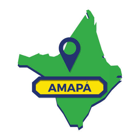 amapa map with map pin