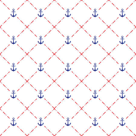 A seamless anchor pattern illustration. Imagens - 81533929
