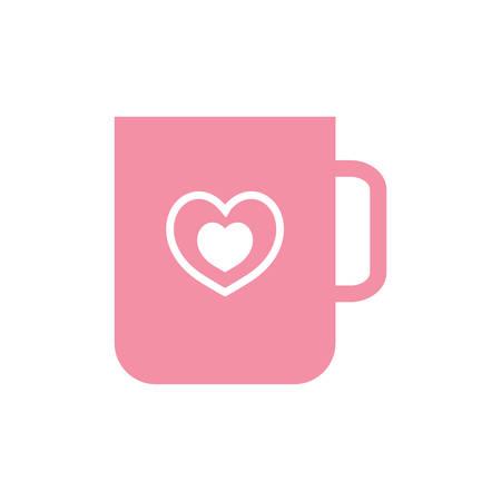 mug with heart symbol