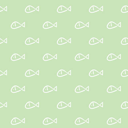 A seamless fish background illustration. Ilustrace