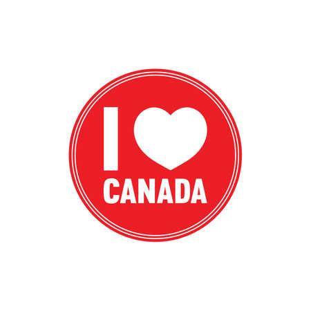 i love canada: i love canada label Illustration