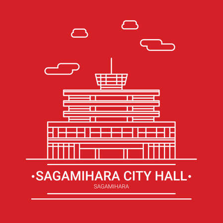 saganihara city hall Ilustração