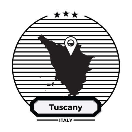 tuscany map label Çizim