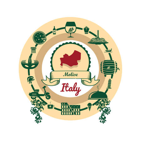 molise map label Illustration