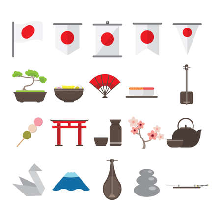 set of japan icons