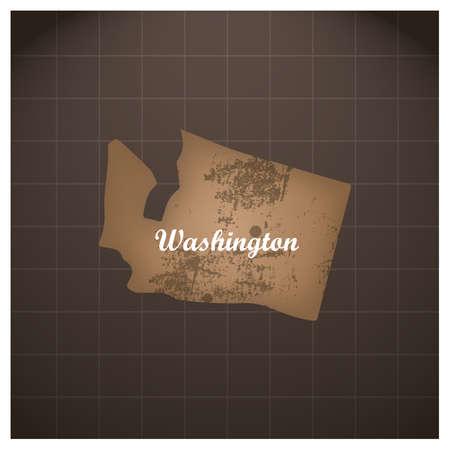 ワシントン州の地図  イラスト・ベクター素材