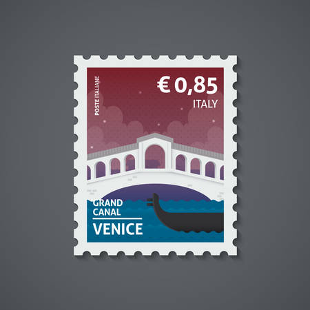 Italië postzegel Stock Illustratie