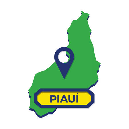 piaui map with map pin