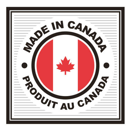 A made in canada label illustration.