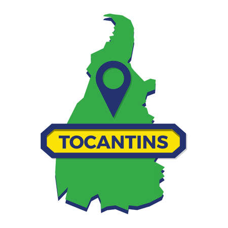 tocantins map with map pin