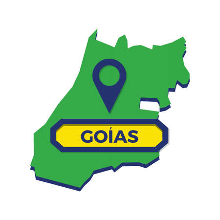 goias map with map pin Reklamní fotografie - 81483686