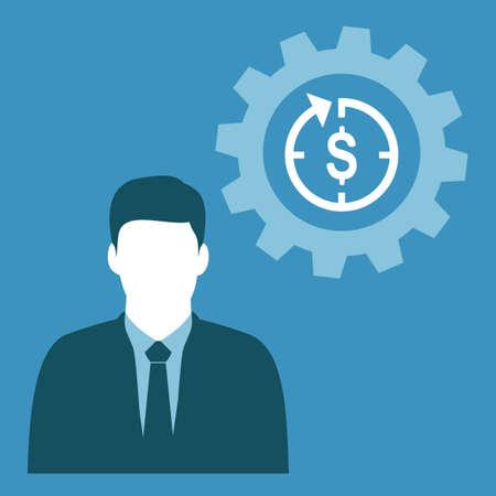 businessman and dollar timer