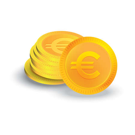 Euro coins Ilustrace