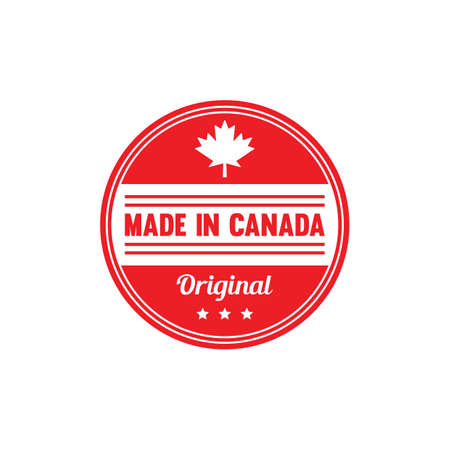 made in canada label Stok Fotoğraf - 81535159