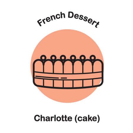 charlotte cake Stock Illustratie