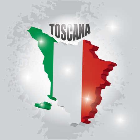 toscana map Zdjęcie Seryjne - 81535158