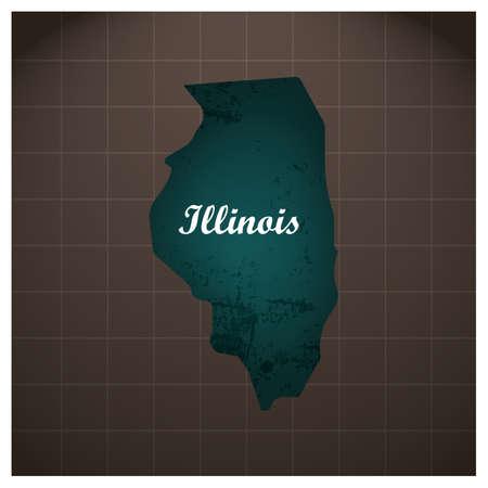 illinois staat kaart