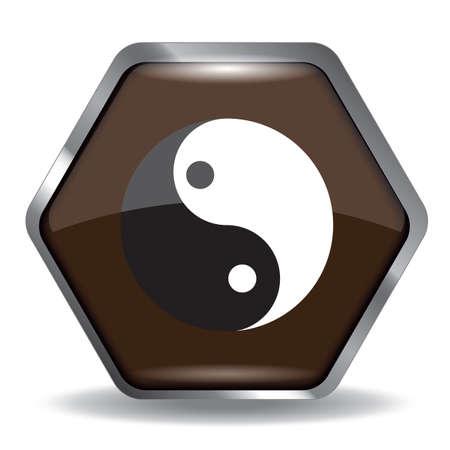 yin yang Ilustrace
