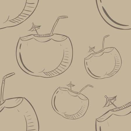 coconut pattern background