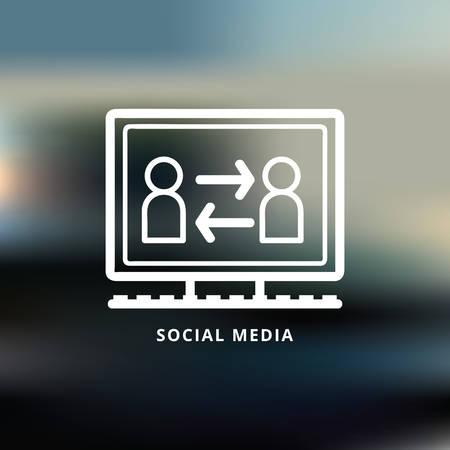 social media Ilustração