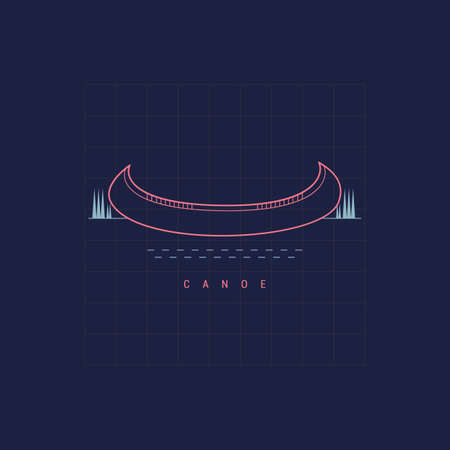 canoe 向量圖像