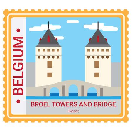 Broel tours et pont Banque d'images - 81589603