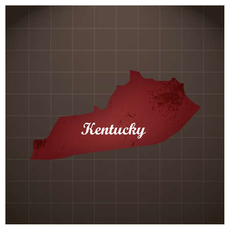 kentucky state map Illustration