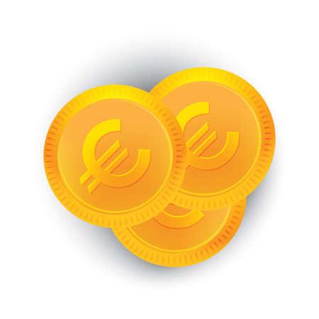 Euro coins Banco de Imagens - 81589601