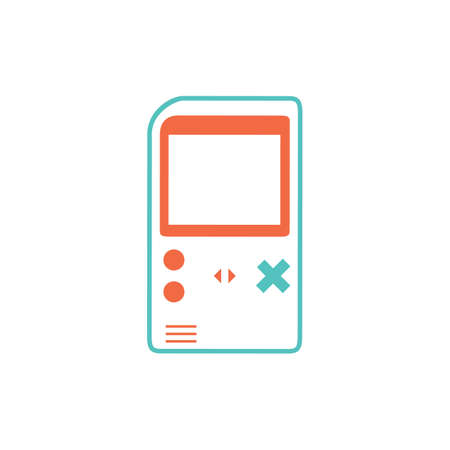 handheld game device Illustration