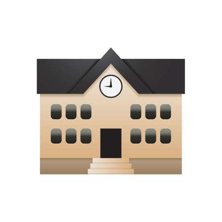 Een schoolgebouw illustratie.