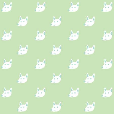 A seamless dog background illustration.