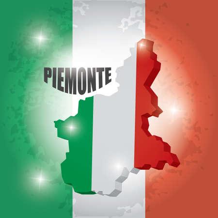 Piemonte map Banco de Imagens - 81589605