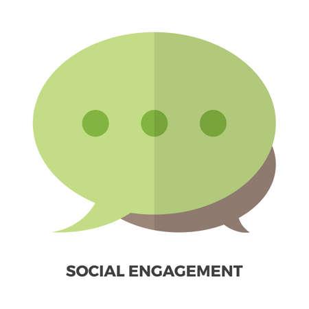 Social engagement concept Illustration