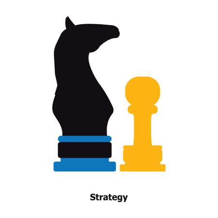 schaakstukken Stock Illustratie