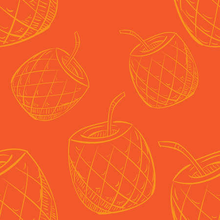 pineapple cocktail pattern background