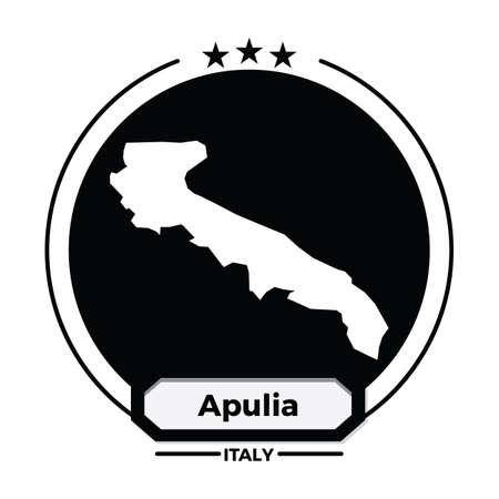 apulia map label