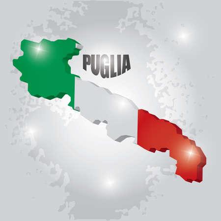 Puglia map Stock fotó - 81589610