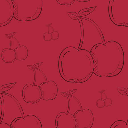 cherries pattern background