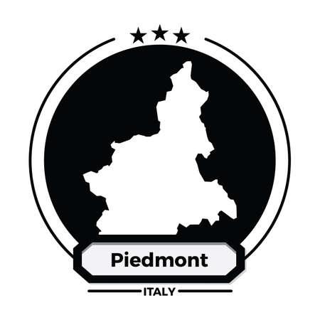 piedmont map label 向量圖像
