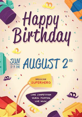 birthday poster Иллюстрация