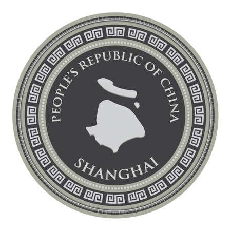shanghai map  イラスト・ベクター素材